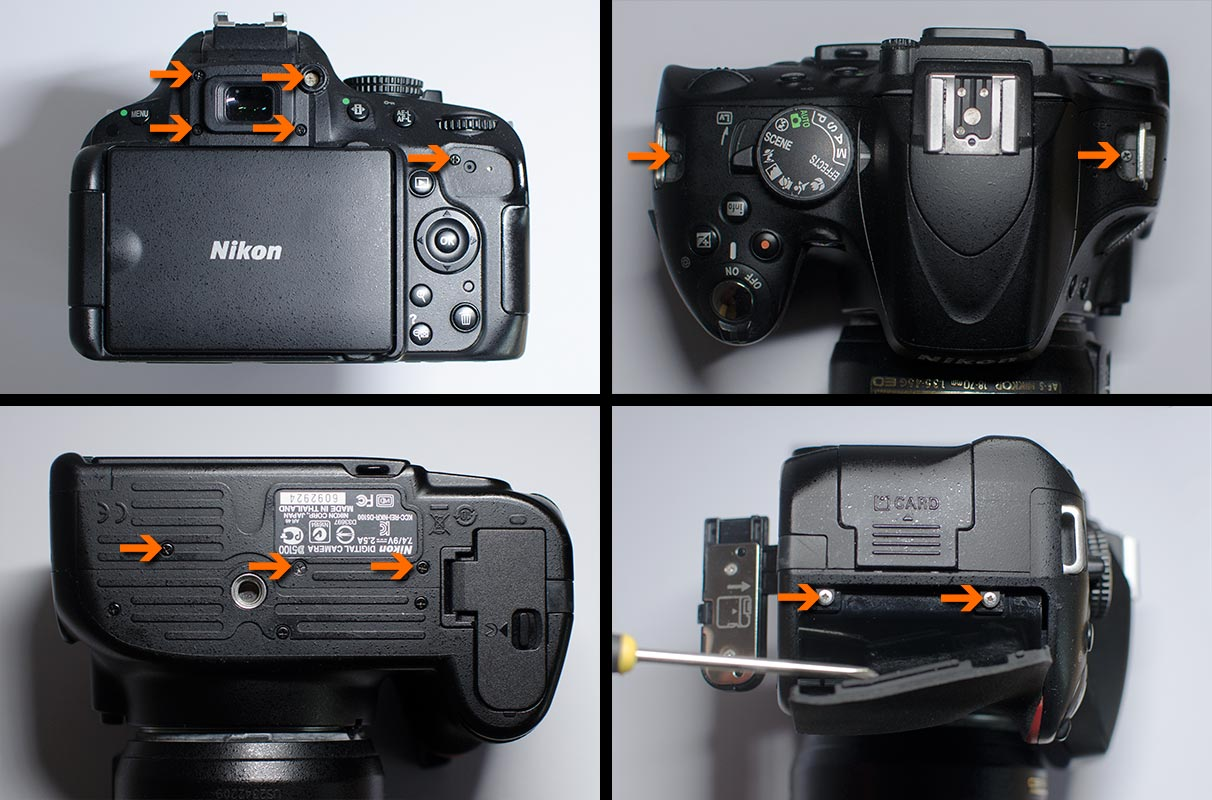 Nikon D5100 astro modification exterior