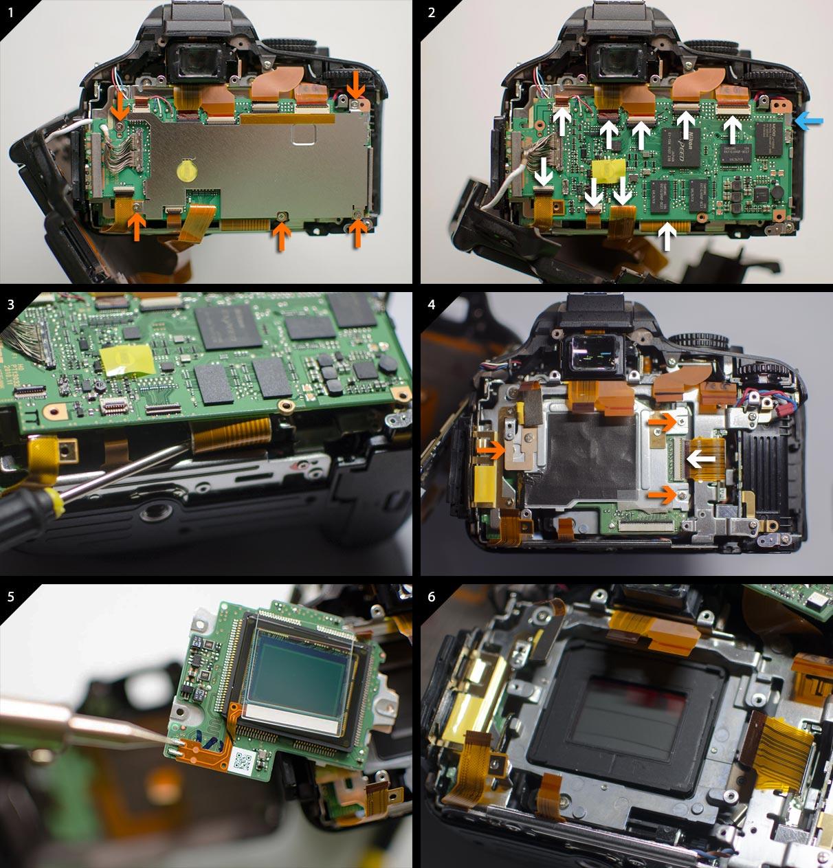 Nikon D5100 astro modification interior