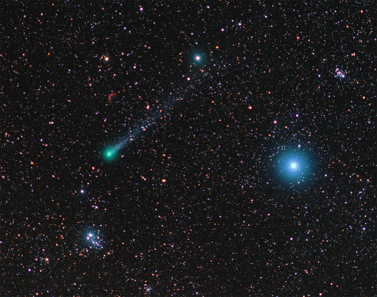 Comet Lovejoy and the Owl Cluster