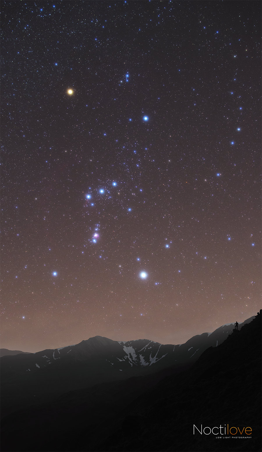Standing on the shoulders of giants - Orion rises over Helvellyn in the English Lake District