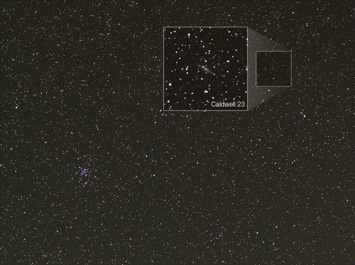 M34 open cluster in Perseus and cadwell 23 with bardoor tracker