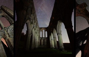 Rievaulx abbey night milky way