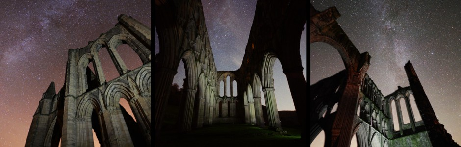 Rievaulx abbey night milky way