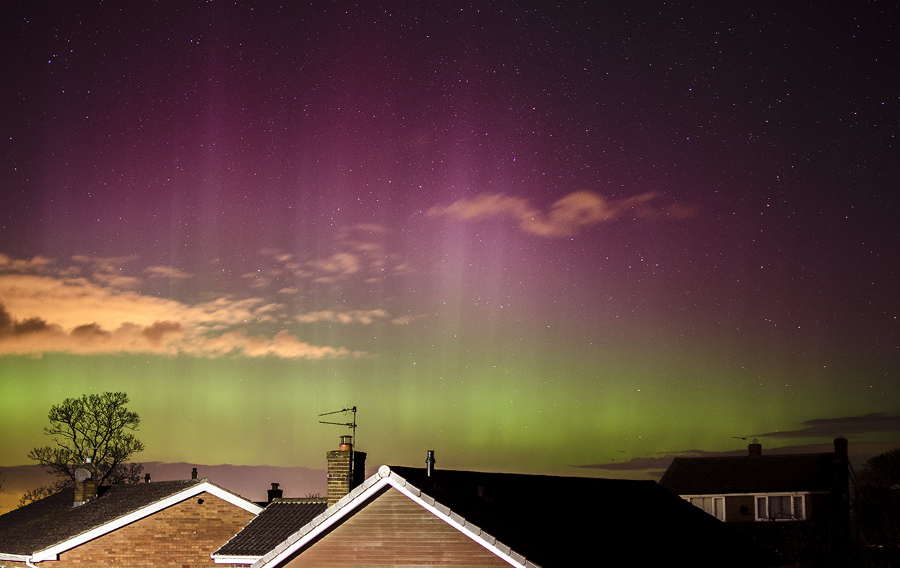 Aurora Borealis as seen from Yorkshire March 2015