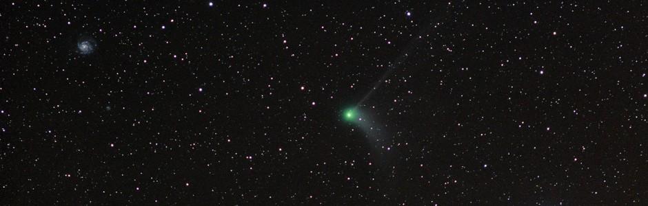 Comet Catalina and M101 the pinwheel galaxy