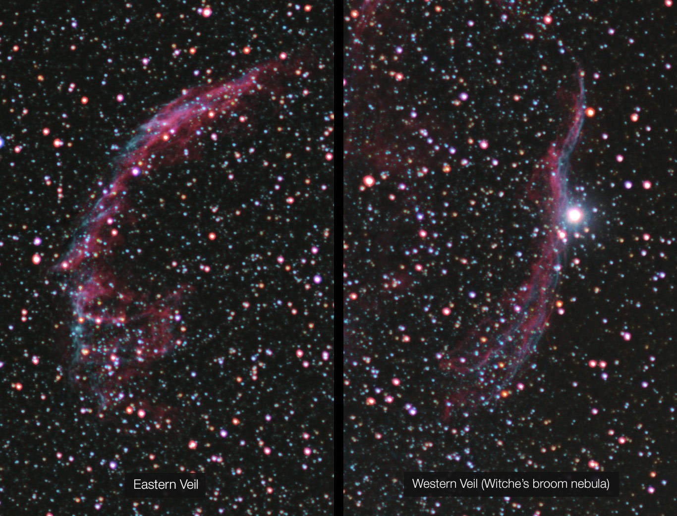 Eastern and Western Veil nebula
