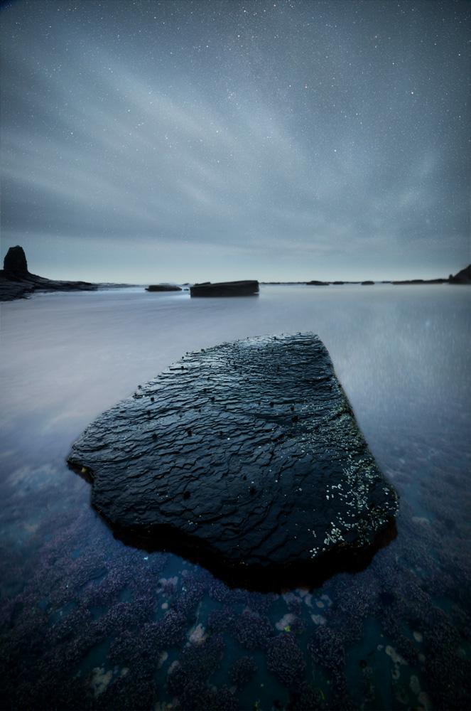 jet black mystical rock at whitby