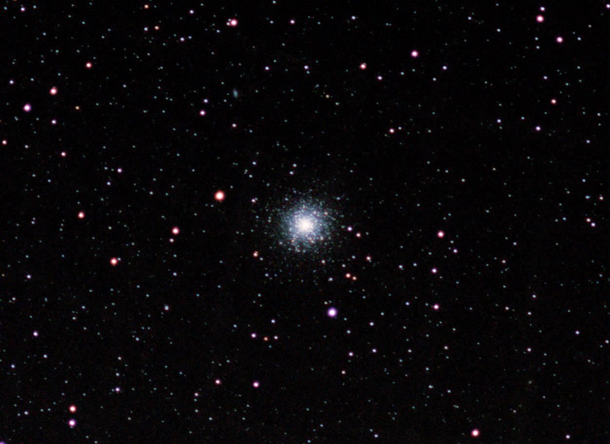 Messier 13 hercules cluster with barn door tracker