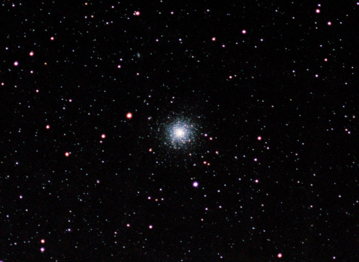 Messier 13 hercules cluster with barn door tracker