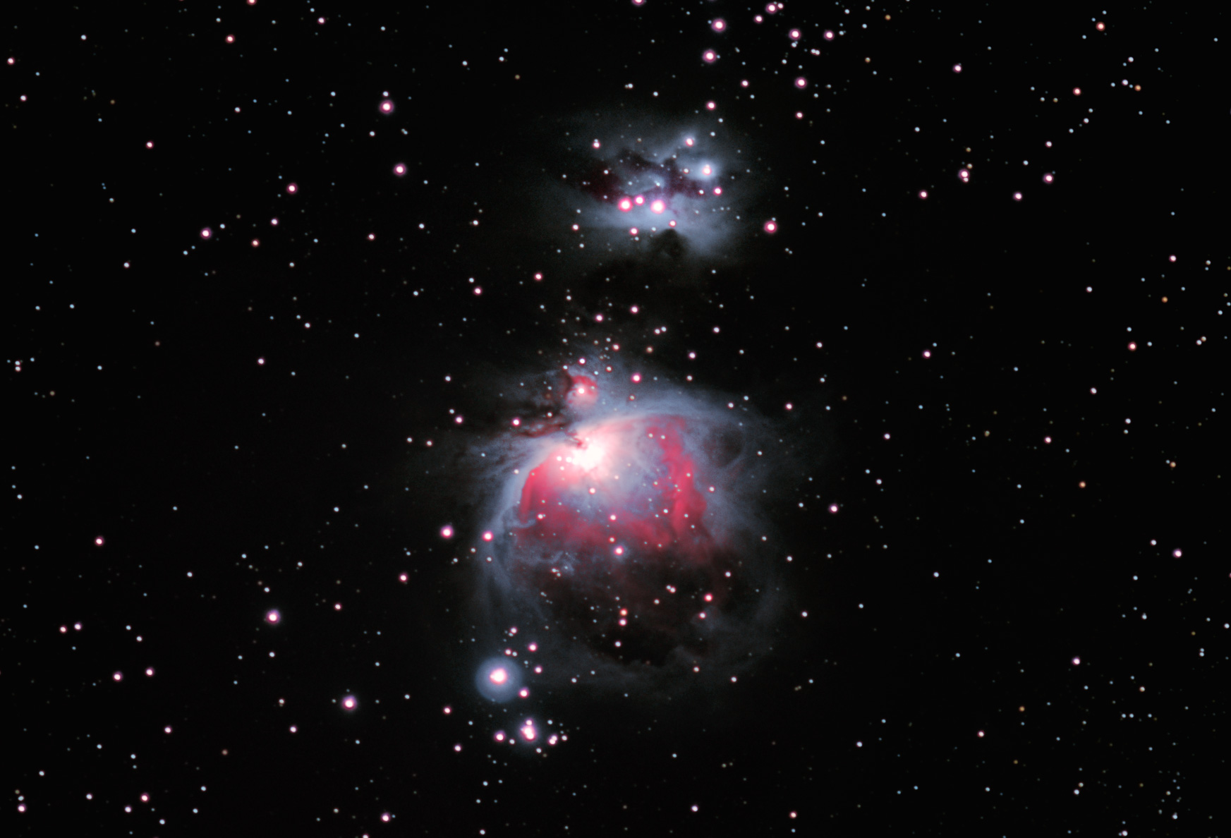 Orion Nebula with barndoor tracker
