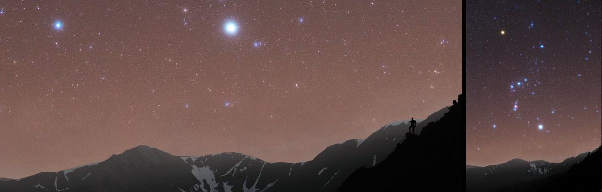 Orion over Helvellyn