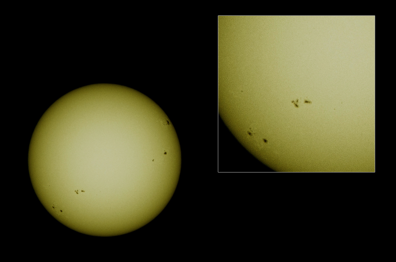 sunspots suns limb